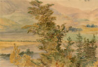 Late 19th Century Watercolour - View of the Valley