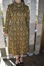 Gorgeous 1960's circa KIMBERLY Gold Metallic Wool Dress by HELEN and JACK LAZAR