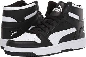 PUMA Men's Rebound Layup Sneaker Black & White