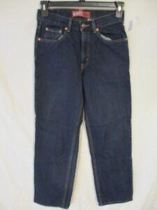 Levi's 550 100% Cotton BOYS Size 18 Slim 27 x 29 Dark Rinse Blue Jeans