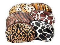 "5"" X 8"" Safari Print Large Zipper Cosmetic All Purpose Bag ~ Great Gift Idea!"