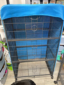 Cozy Pet RC04 Fleece Cage COVER ONLY Blue/turquoise SUGAR GLIDER RATS etc