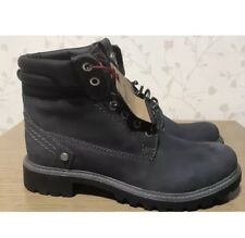 Size 6 Ladies WOMEN'S WRANGLER ANKLE BOOTS GENUINE LEATHER LACE UP WINTER NAVY 0