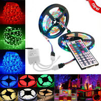 10M 3528 SMD RGB 600 LED Strip light string tape+44 Key IR remote control
