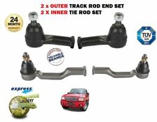 FOR FORD RANGER 4x4 2.5D 2.5TD 1999-2006 2x OUTER 2X INNER TIE TRACK ROD END SET