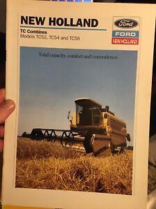 Ford New Holland TC52 TC54 TC56 combine tractor brochure