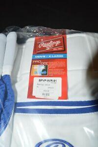 Men's Rawlings Baseball Softball Pants Size XL White with Royal Accents - New