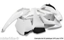 KIT PLASTIQUES UFO KTM SX85 13-14 - COULEUR BLANC