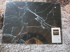 IMPRESS BLACK MARBLE GLASS WORK TOP SAVER CHOPPING BOARD NEW SEALED