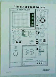 Tektronix Test Set-Up Chart for 576+ Curve Tracer  070-0970-01 75+ Pages Originl