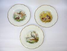 Trois porcelaine assiette pour 1900 hache Jullien vierzon paris france ASSIETTE