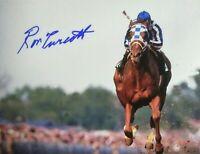 Secretariat photograph Ron Turcotte  autograph Belmont Stakes 1973 triple crown