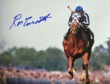 Secretariat signed Ron Turcotte  autograph Belmont Stakes 1973 triple crown