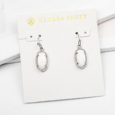 Lee Silver Drop Earrings in White Mother of Pearl | Kendra Scott