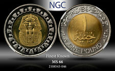AH1422//2002 EGYPT KING TUT S 1 POUND ENT NGC MS66 FINEST KNOWN
