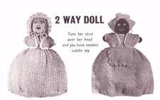 TOPSY TURVY - 2 WAY DOLL /  COPY doll knitting pattern