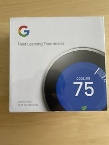 Nest Pro T3008US Programmable Thermostat Stainless Steel 3rd Generation