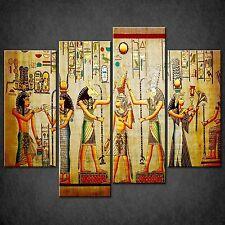 EGYPTIAN PAPYRUS HIEROGLYPHS CASCADE CANVAS PRINT READY TO HANG