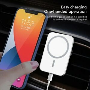 Car Wireless Fast Charger Magnetic Phone Mount Holder for iPhone 12 Pro MAX Mini