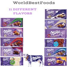 4 X MIX LOT FLAVORS milka swiss chocolate bar 100g each free worldwide shipping