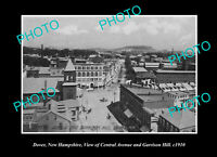 OLD POSTCARD SIZE PHOTO DOVER NEW HAMPSHIRE VIEW OF GARRISON HILL c1910