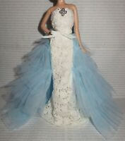 EVENING C ~ DRESS ~ BARBIE DOLL MODEL MUSE OSCAR DE LA RENTA BRIDE GOWN & BROACH