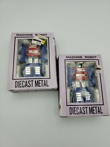 Lot of TWO: Vintage Machine Robot Die Cast Metal! Transformers Knock Off! Taiwan