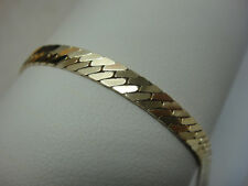 14K 14 K SOLID YELLOW GOLD HERRINGBONE CHAIN LINK BRACELET