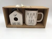 RAE DUNN BABY BIRD Round Mini Birdhouse MAMA BIRD Mug Gift Set New IN Box