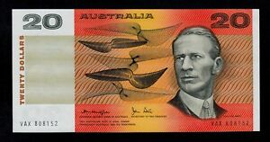 AUSTRALIA  20 DOLLARS ( 1979 )  VAX  PICK # 46c  AU-UNC.