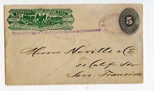 MEXICO EXPRESS ENVELOPE WELLS FARGO 5+15c, WF59/41, MAGDALENA 1887      (CE378)