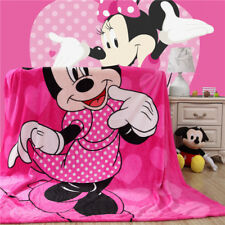 X Large Soft Mink Blanket Flannel Fabric 1.5x2 Meter Minnie Mouse Pink