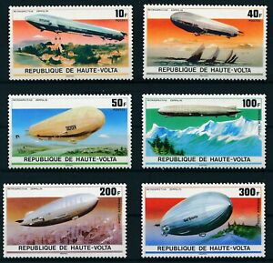 [P16872] Upper Volta 1976 : Zeppelin - Good Set Very Fine MNH Stamps & Airmail