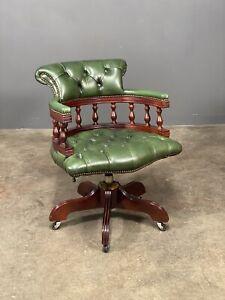 Vintage Chesterfield Captains Desk Chair