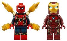 Lego Marvel Infinity War Spider-Man Iron Suit and Iron Man Minifigures 76108