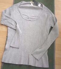 NWT~NEXT~Ladies rib knit grey marl jumper faux insert size 20...rrp £22
