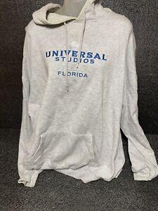 Universal Studios Florida Embroidered  Grey Hoodie Jacket  Size 2XL