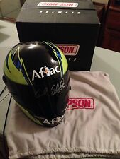 Carl Edwards NASCAR Simpson Racing Aflac Signed Autographed Full Size Helmet