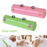 Cute Frog Hand Wash Paper Soap Pull Type Travel Portable Scented Slice Bath Soap