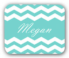 Chevron Teal White Personalized Anti-Slip Mouse Pad Mat Mice Mousepad