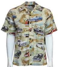 David Carey Vintage Chevy Chevelles Printed on Hawaiian Camp Shirt Button Down