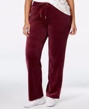 Calvin Klein Red Sport Lounge Soft Velour Pants Womens Plus Size 1X 14W 16W