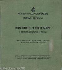 RSI-ABILITAZIONE A CONDURRE GENERATORI DI VAPORE-BOLOGNA 1944