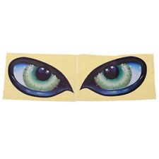 1 Pair cool 3D mysterious cat eyes car sticker green evil window mirror decal E&