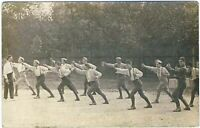 WW1 CONSCRIPTS FIGHT TRAINING SOLDIERS FRENCH ARMY ANTIQUE PHOTO RPPC POSTCARD