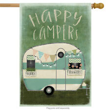 "Happy Campers Summer House Flag RV Camping 28"" x 40"""