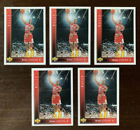 LOT (5x) MICHAEL JORDAN 1993 UPPER DECK #23 CARDS INVESTORS LOT NM-MT CONDITION