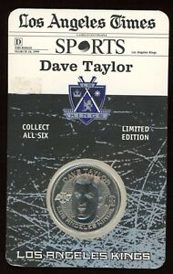 1999 Dave Taylor Los Angeles Kings Times Limited Edition Hockey Coin Token Medal