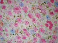 Diseño de la flor - Color Rosa - Bleu - Tejido - Venta por metro