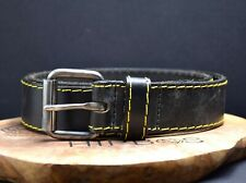 Dr Martens Vintage Mens Leather Belt Black Size 36